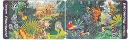Australia - Wild Animal Joining Pair $2 Mint Unused Phonecards - Australia