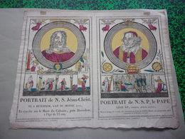 Image - Martin-Delahaye  - Portrait De N.S. Jésus-Christ - Portrait De N. S. P. Le Pape - Images Religieuses