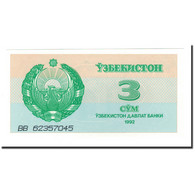 Billet, Uzbekistan, 3 Sum, 1992 (1993), KM:62a, NEUF - Ouzbékistan