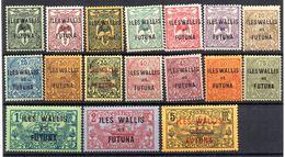 Wallis N°1 à 17 N* (le 11 N** ) TB Cote 50 Euros !!! - Wallis-Et-Futuna