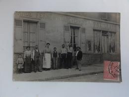 """Carte-photo- Devanture Commerce """"grande Ferme De La Gare D'Ermont"""" - Ermont"""
