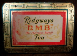 Boite Lithographié Box RIDGWAYS HMB Her Majesty's Blend TEA Thé Tee Ridgway England London C1930 ! - Other Collections