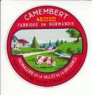 Etiquette De Fromage Camembert - Vallée De La Drouance - Marcel Lefèvre - St Pierre La Vieille - Calvados. - Fromage