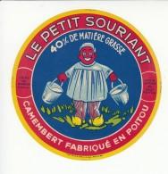 Etiquette De Fromage Camembert - Le Petit Souriant - Noiron - Vienne. - Fromage