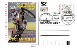 Czech Republic (17-19) Race Speedway Gold Helmet Pardubice 2017 - Postcard - Motorbikes