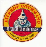 Etiquette De Fromage - Pierrot Gourmand - Charente Maritime. - Cheese