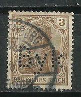 Alemania. Imperio. 1905-11. Perfins. Perforación Comercial B Y K - Alemania