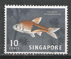 Singapore 1962. Scott #57 (U) Harlequin Fish * - Singapour (1959-...)