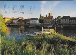 DANIMARCA - RIBE - CANALE - VIAGGIATA 1991 FRANCOBOLLO ASPORTATO - Dänemark