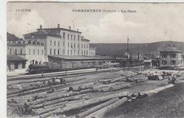 Porrentruy - La Gare Avec Train Vapeur - 1925     (P-126-60919) - JU Jura
