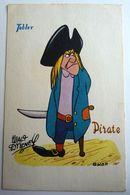 WALT DISNEY CARTE POSTALE CHOCOLATS TOBLER PETER PAN -  PIRATE BILL JUKES - Fumetti