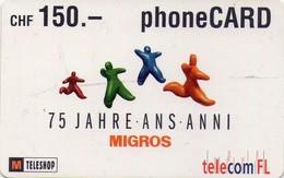 TARJETA TELEFONICA DE LIECHTENSTEIN (1578 PREPAGO TIRADA 90000, 05/2003) (003) - Liechtenstein