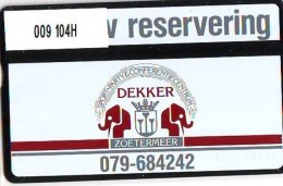 Telefoonkaart  LANDIS&GYR  NEDERLAND * RCZ.009  104H * Partycentrum Dekker Zoetermeer  * TK * ONGEBRUIKT * MINT - Privé