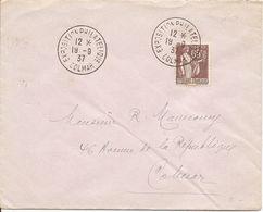PAIX Sur ENV  OBLI  EXPOSITION PHILATELIQUE  COLMAR  13 9 37 - 1877-1920: Semi Modern Period