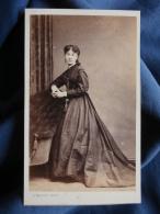 CDV Photo L. Mulot à Paris - Second Empire Femme En Pied, Bijoux Circa 1860 L337 - Photos
