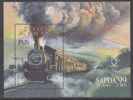 South Africa 1999 Sapda / Steam Locomotive M/s ** Mnh (38171) - Blokken & Velletjes