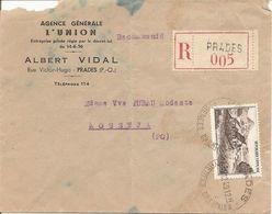 GERBIER DE JONC    Sur ENV  REC OBLI   PRADES Pour  OSSEJA - 1877-1920: Semi Modern Period