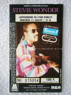 STEVIE WONDER Ticket De Concert à L'Hippodrome De LYON-PARILLY Le Mercredi 11 Juillet - Tickets - Vouchers