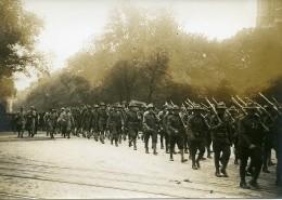 Paris Avenue Victoria Fête De L'Independance Américaine WWI Ancienne Photo Identite Judiciaire 1917 - War, Military