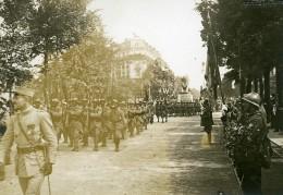 France Paris Denfert Rochereau Revue Du 14 Juillet WWI Ancienne Photo Identite Judiciaire 1917 - War, Military