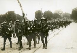 France Paris Place De L'Observatoire Revue Du 14 Juillet WWI Ancienne Photo Identite Judiciaire 1917 - War, Military
