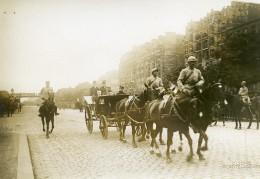 France Paris Cours De Vincennes Revue Du 14 Juillet WWI Ancienne Photo Identite Judiciaire 1917 - War, Military