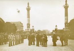 France Paris Place De La Nation Revue Du 14 Juillet WWI Ancienne Photo Identite Judiciaire 1917 - War, Military