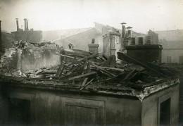 France Paris Raid D'avion Allemand Rue St Sauveur  WWI Ancienne Photo Identite Judiciaire 1918 - War, Military