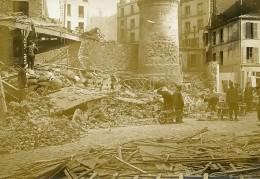 France Paris Raid D'avion Allemand Rue De Kabylie WWI Ancienne Photo Identite Judiciaire 1918 - War, Military