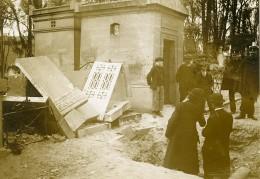 Paris Bombardement Allemand Cimetiere Du Pere Lachaise WWI Ancienne Photo Identite Judiciaire 1918 - War, Military