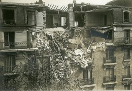 France Paris Raid De Gothas 132 Rue De Tolbiac WWI Ancienne Photo Identite Judiciaire 1918 - War, Military