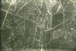 France Paris Auteuil Panorama #7 Première Guerre Mondiale Ancienne Photo Aerienne 1918 - War, Military