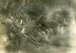France Bombardement Bombes Première Guerre Mondiale Ancienne Photo Aerienne 1916 - War, Military