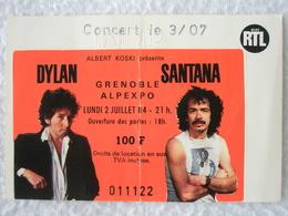 DYLAN SANTANA Ticket De Concert à Grenoble Alpexpo Le Lundi 2 Juillet 1984 - Tickets D'entrée