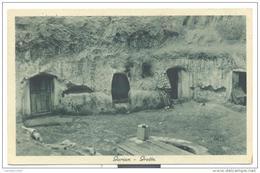 GARIAN GROTTE VIAGGIATA RETRO TIMBRO POSTA MILITARE 1940 - Libya