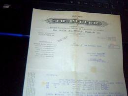 Facture Lettre  A Entete Fabrique De Baratte A Beurre Pilter A Paris Rue Alibert Annee 1946 - France