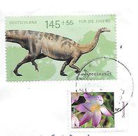 Deutschland:  Plateosaurus - Briefmarken
