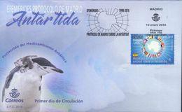 Spanien 'Umweltschutz Antarktis, Pinguin' / Spain 'Antarctic Environment Protection, Penguin' FDC 2018 - Antarctic Treaty