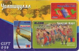 TARJETA TELEFONICA  DE MONGOLIA (PREPAGO).(006) - Mongolia