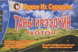 TARJETA TELEFONICA  DE MONGOLIA (PREPAGO).(008) - Mongolia