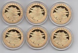 Korea North - Set 6 Coins 20 Won 2014 UNC Lemberg-Zp - Corea Del Norte