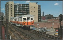 Boston MBTA Car No 01129 Near Dover Station, 1997 - Mary Jayne's Postcard - Trains