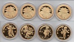 Korea North - Set 4 Coins 20 Won 2014 UNC Lemberg-Zp - Corea Del Norte