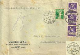 """NN Brief  """"Zumstein, Briefmarken, Bern"""" - Wigoltingen              1930 - Briefe U. Dokumente"""