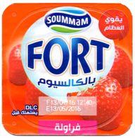 "Opercule Cover Yaourt Yogurt "" Soummam "" FORT "" Calcium Fraise Yoghurt Yoghourt Yahourt Yogourt Strawberry Strawberries - Opercules De Lait"
