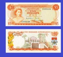 Bahamas  5  Dollars1965  -- Copy - Copy- Replica - REPRODUCTIONS - Bahamas