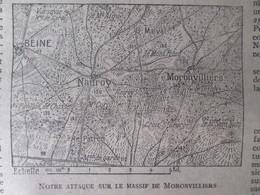 MASSIF DE MORONVILLIERS  Semaine Militaire 17 Au 54 Mai  1917 + Carte Du Front  22 Mai   Nauroy  Beine - Alte Papiere