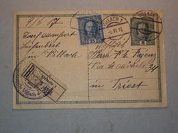AUSTRIA CARTOLINA INTERO POSTALE ANNULLO POSTALE DI VILLACH 1917 IN RACCOMANDATA + CENSURA - Vecchi Documenti