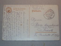AUSTRIA CARTOLINA INTERO POSTALE ANNULLO POSTALE KUK FELDPOSTAMT 430 FELDPOST 1918 SANITATS KOLONNE N. 10 - Vecchi Documenti