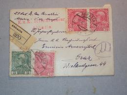AUSTRIA LETTERINA RACCOMANDATA ANNULLO POSTALE DI ABBAZIA BELLA AFFRANCATURA 1915 - Vecchi Documenti